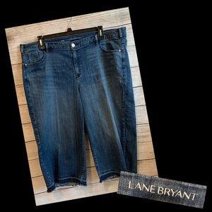 Lane Bryant Frayed Hem Cropped Jeans